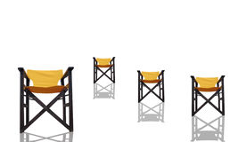 Four  chair on a white background Stock Photography