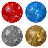 Four disco balls Royalty Free Stock Photo