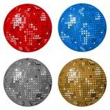 Four disco balls Royalty Free Stock Photo