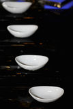 Four dishes on steps Royalty Free Stock Photo