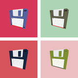 Four diskette Royalty Free Stock Photography