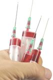 Four disposable syringe Royalty Free Stock Photo