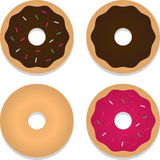 Four Donuts Stock Photography