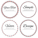 Four dotted circles for your text Royalty Free Stock Photo