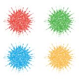 Four dotted splashes Royalty Free Stock Images
