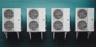 Air conditioner condenser unit Royalty Free Stock Photo