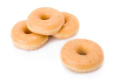 Free Four Doughnuts Or Donuts Piled Royalty Free Stock Photography - 9030257