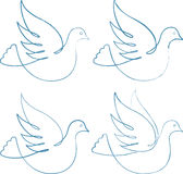 Four doves Stock Image
