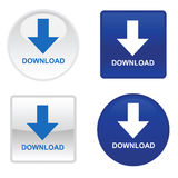 Four download buttons. Vector EPS Stock Photo