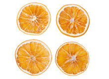 Four dried slices of orange Stock Photo