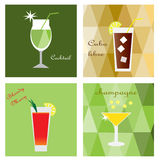 Four drinks Royalty Free Stock Photos