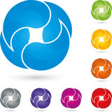Four drops, colored, multimedia and services logo. Four drops, multimedia and services logo Stock Photo
