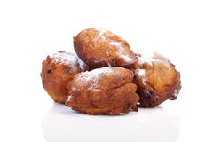 Four Dutch donut also known as oliebollen Stock Photography