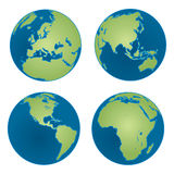 Four Earth Views Royalty Free Stock Images