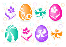 Four easter eggs Stock Image
