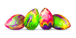 Four easter eggs Royalty Free Stock Photography