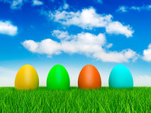 Four easter eggs Royalty Free Stock Photos