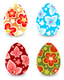 Four Easter eggs Royalty Free Stock Images