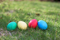 Four easter eggs Royalty Free Stock Photos