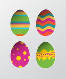 Four easter eggs vector Stock Image