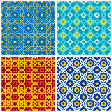 Four eastern geometric ornaments Stock Photography