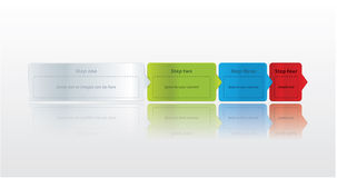 Four easy steps. Modern vector labels with space for text and ic Royalty Free Stock Images