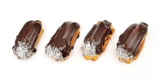 Four eclair Royalty Free Stock Photography