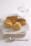 Four Eclairs Stock Photos
