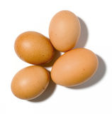 Four eggs on background Royalty Free Stock Image