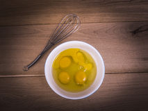 Four eggs in a bowl Royalty Free Stock Photos