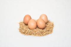 Four eggs with husk Royalty Free Stock Photo