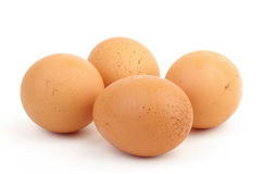 Four eggs isolated Royalty Free Stock Photo