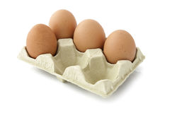 Four eggs in the package Royalty Free Stock Image