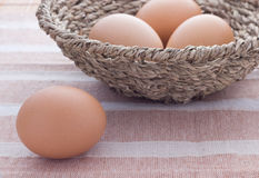 Four eggs Stock Photo