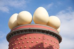 Four eggs sculptures at Figueres Royalty Free Stock Images