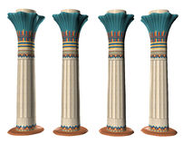 Four Egyptian Pillers Three Royalty Free Stock Photos