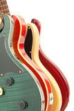 Four Electric Guitars Royalty Free Stock Photos