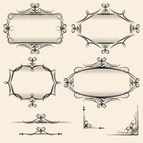 Four elegant vector vintage frames Stock Photos