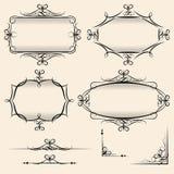Four elegant vector vintage frames Stock Photos