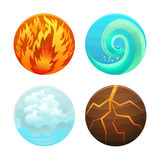 Four Element Set. Vector Royalty Free Stock Photography