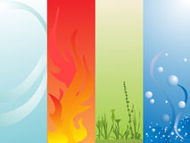 Four elements. Vector illustration of natural elements Stock Images