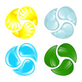 Four elements Royalty Free Stock Images