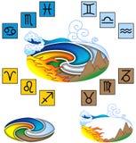 Four elements. Vector illustration. Jpeg, EPS Royalty Free Stock Photos