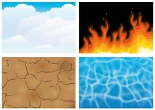 The four elements. Illustration of the four elements Stock Photos