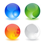 Four elements. Four balls representing four elements (water,fire,earth and air Royalty Free Stock Images