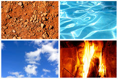 Four elements stock photos