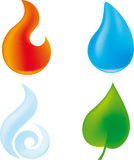 The four elements Stock Image