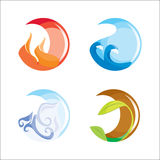 Four elements Royalty Free Stock Photos