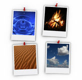 Four elements Stock Images
