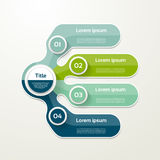 Four elements banner. 4 steps design, chart, infographic, step b. Y step number option, layout Stock Image